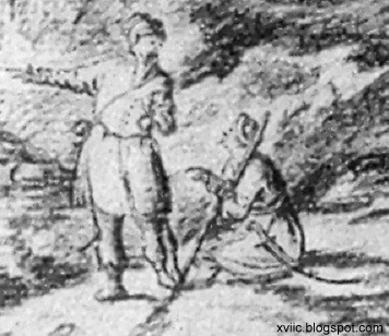 Мал. 20. Козаки з гравюри А. Ван Вестерфельда. Ніяких широченних холош.